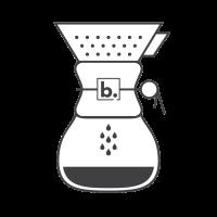 A Chemex coffee maker