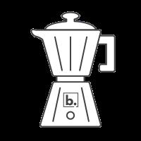 A Moka Pot coffee maker