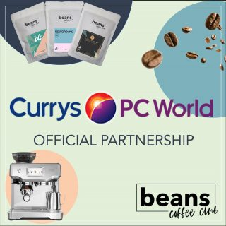 We are very pleased to announce that we have partnered with Curry's to help people get the best coffee experience at home. Launching today, qualifying coffee machine purchases will enjoy 2 free bags of coffee from Beans Coffee Club. . There is nothing worse than investing in a great new coffee machine and then putting poor quality coffee in it, or the wrong coffee for you, that's why Curry's and Beans is a perfect partnership. We match our members to a selection of coffees, based on their preferences, ensuring they get the best experience when making coffee at home. . If you're thinking of buying a new machine, or even buying one as a gift, there is no better way to ensure great tasting coffee then with a Beans Coffee Club subscription. . For more information check out Curry's online on click the link in our bio.