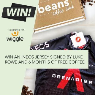 WIN a signed cycling top and 6 months of coffee 🎉☕️🤩🚴🏻♀️ . Cycling and coffee go hand in hand! So to celebrate the Tour de France we have teamed up with Wiggle and our Beans ambassador Luke Rowe to bring you this great prize.  . You can win a 6-month subscription of award-winning coffee as well as a Castelli Team Ineos Cycling Jersey signed by Luke Rowe. . There are many ways to win this awesome prize. Head to @wiggle_sport now and click on the bio link to enter. Competition closes in 14 days. . Good luck . #coffeelover #cyclingandcoffee #tourdefrance #teamineos #coffeeandcycling #ineosgrenadier #coffeegiveaway #coffeecompetition