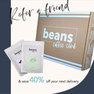 We've increased our Referral reward to a whooping 40% OFF ⭐️⭐️⭐️⭐️ . This means you get 40% OFF your next delivery and your friend gets 40% OFF their first order.  . We have also improved the way you can share your referral code by adding WhatsApp to the feature. Simply login to your account and select referrals from the menu to tell your friends. There is no limit to the number of referral credits you can earn so get sharing for great savings.  . #coffeeclub #coffeesubscription #specialitycoffee #coffeehunter #coffeelover