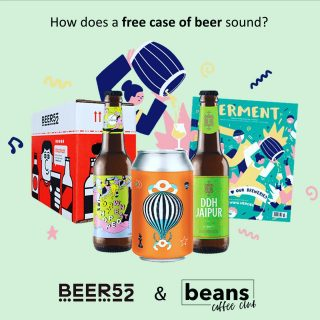 How does a free case of beer sound? . That's exactly what Beer52 are offering you right now. We champion the best Independent and artisan coffee roasters and they do the same with beer, so if you want to explore a great selection of beers from some of the best breweries we recommend you check them out. . Each month their lucky members receive a case which explores a different theme or country. If you don't like dark beer, simply choose the light option: it's simple! All you have to do is click the link in bio and cover the £5.95 postage cost to get your case now. .  As well as delicious beer, you'll receive the award-winning Ferment magazine which delves into the beers, breweries and themes. To top it all off 2 tasty snacks are thrown in as well! What's not to love?