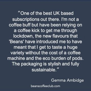 Today is Earth Day 🌎  We thought that we would share this review from Gemma which captures some of the positives sustainable reasons to join our club.   Here are some more reasons too: - minimal production waste as coffee is only roasted when you order it 💚 - packaging is recyclable 🌍 - product waste is compostable 🌱 - we support @project_waterfall 💦 - one subscription which supports <15 UK businesses 🇬🇧  We love how happy our club members are ❤️  #earthday  #smallchangesbigresults  #fortheloveofcoffee  #beanscoffeeclub  #supportingukbusinesses  #exploretheworldofcoffee  #discovertheuksbestroasters #jointheclub