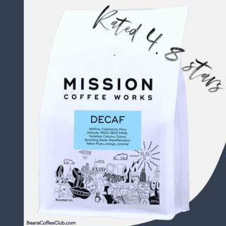 YOU RATED THIS DECAF AWESOME 💪🤟🤩 . Decafs have come a long way in the last few years driven by improvements in taste and processing. Decaf subs are becoming more and more popular; Beans Coffee Club is the only club which features multiple decafs from the UKs best roasters - allowing you to easily explore the best decaf offerings in one flexible subscription. . Last month you voted this decaf from Mission your favourite - scoring it 4.8 stars out of 5.  . Well done @missioncoffeeworks  . #coffeelover #decafcoffee #decaffeinated #specialitydecaf #specialitycoffee #freshbeans #coffeeclub #coffeesubscription