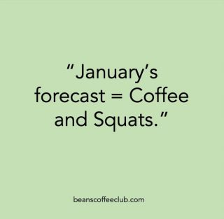 Anybody else determined to do more exercise this year/in January?  If so then you should read on...  A study published in the International Journal of Sports Nutrition and Exercise Metabolism, shows that athletes who drink black coffee before their daily exercise burnt 15 per cent more calories for three hours post-exercise as compared to the one who took a placebo.  @Menshealth also suggests that drinking coffee approximately 45 minutes before a workout could increase your time to exhaustion by up to 20 minutes.  #coffeeandsquats #hitthegym #homegym #coffeeandgym #beanscoffeeclub #fortheloveofcoffee #fitnessgoals #positivestart #2021newme #newyearnewme #mybodyisatemple