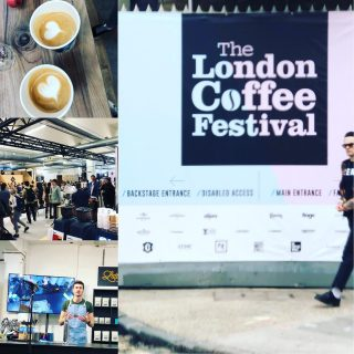 Great day @londoncoffeefestival, meeting up with other coffee bods and sharing our love for coffee ❤️☕️